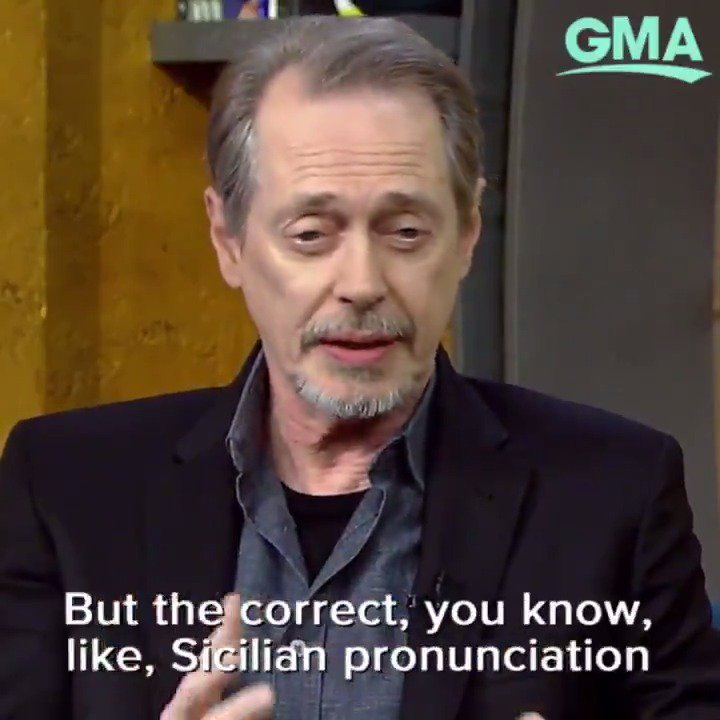 THIS is how you ACTUALLY pronounce Steve Buscemi's name. https://t.co/bcdSOh87Pu https://t.co/xyODF71jTm