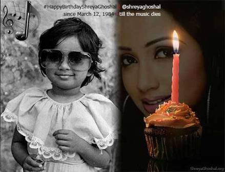 Many many happy returns of day Happy birthday Shreya Ghoshal