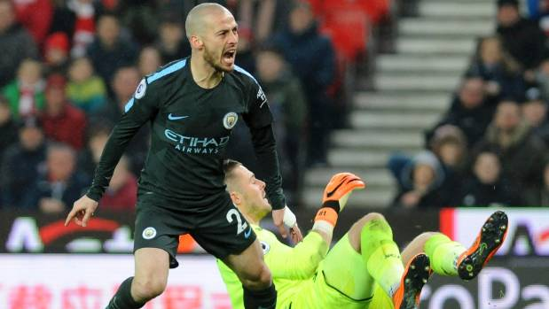 Manchester City's David Silva scorches Stoke in English Premier League