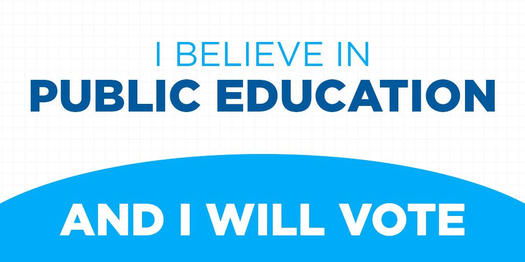 RT if you think the Secretary of Education should believe in public education.   https://t.co/ZKn8fJVS17 #IWillVote https://t.co/iogMCnoYCl