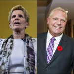 Wynne says voters have to choose between the 'stark' contrast of her and Doug Ford
