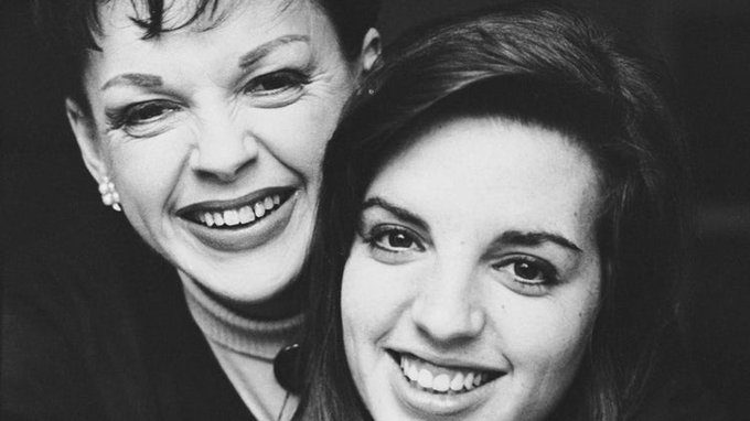 Happy birthday Liza Minnelli, 72 today; here with her Mom