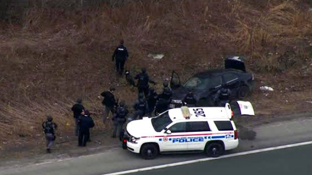 Third suspect sought near Hwy. 401 in Ajax after shots fired at bank