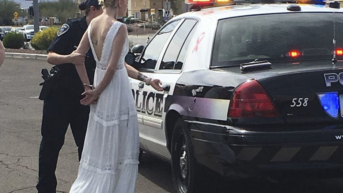 Police say impaired bride crashes on her way to her wedding