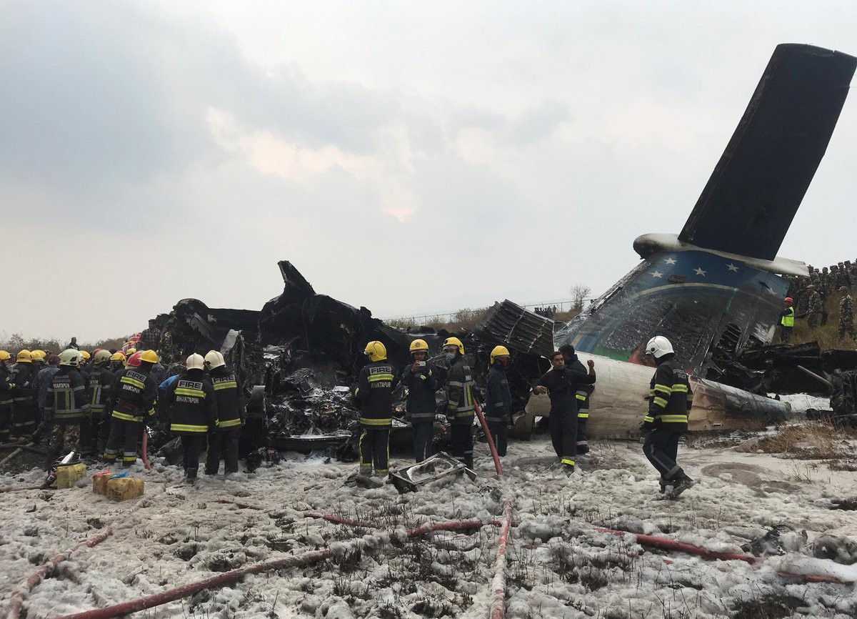 Nepal plane crash: Death toll 49; 22 people manage to escape