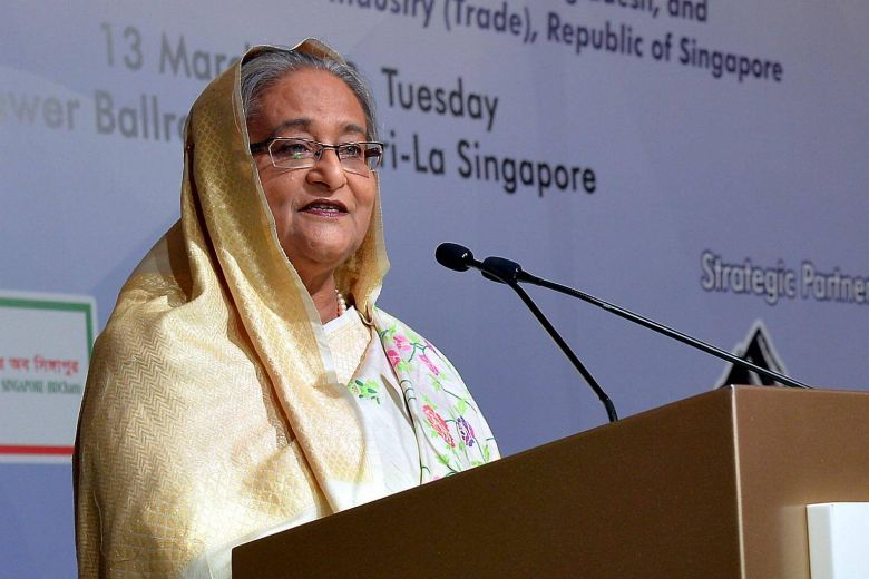 Bangladeshi PM woos Singapore companies with economic and land incentives