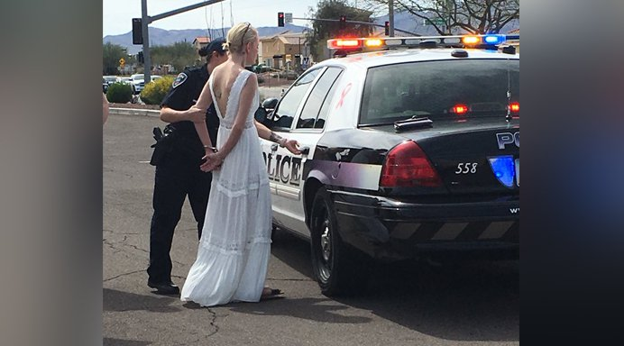 Bride arrested for DUI on way to her wedding