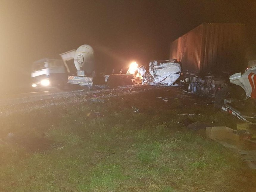 One dead, three injured in gas tanker accident