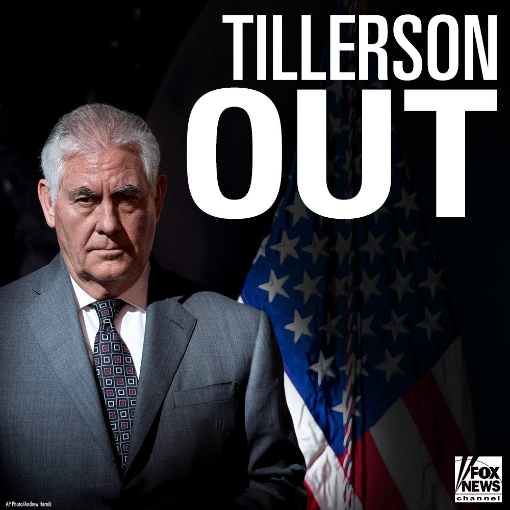BREAKING NEWS: Rex Tillerson is out as Secretary of State. Mike Pompeo to replace him. https://t.co/KDTH3DslUO