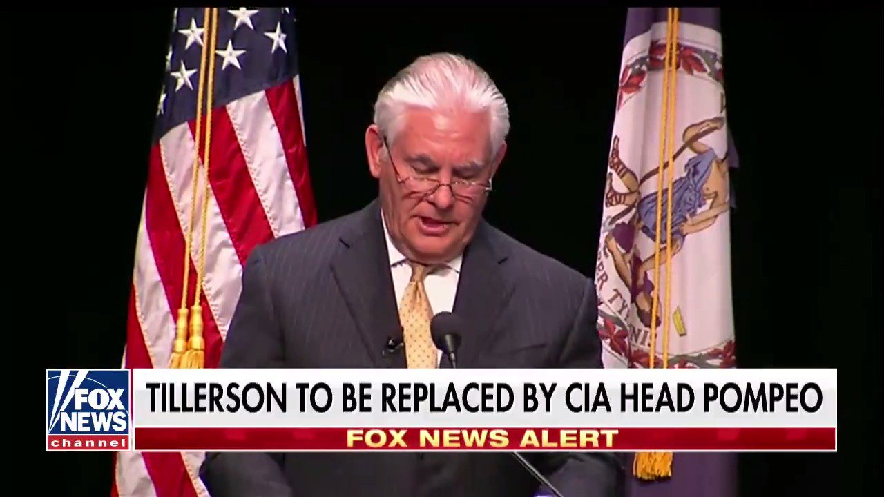 .@johnrobertsFox on Rex Tillerson to be replaced by Mike Pompeo https://t.co/c2PDVbP7YR https://t.co/mCPqK7J8UK