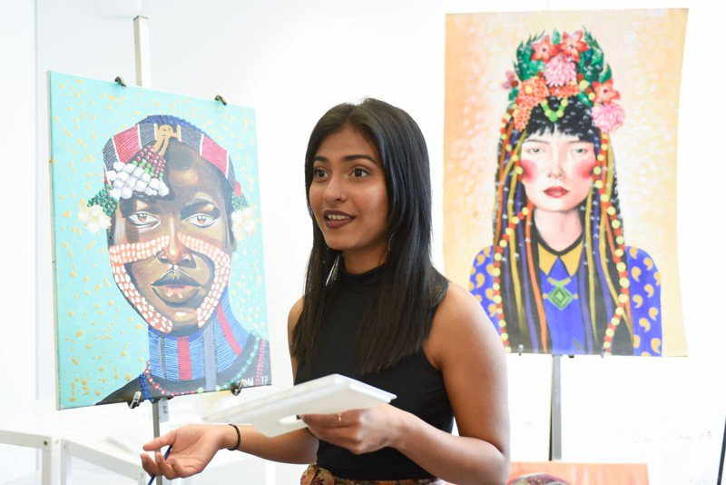 This Life with Gracie: 'Slumdog Millionaire' actress using paintings to empower women