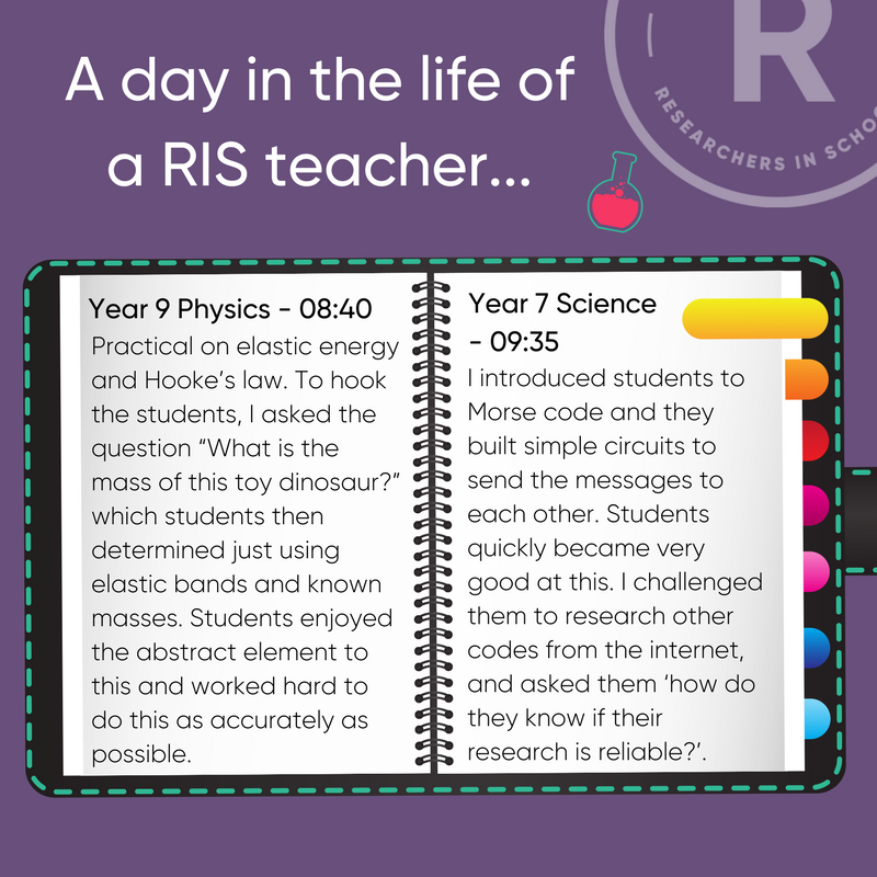 """test Twitter Media - Could you be introducing pupils to Morse Code, or asking the question, """"what is the mass of a toy dinosaur?"""". Excite pupils by bringing your expertise into the classroom with @RISchools. Next application deadline, 25th March @getintoteaching #phdchat #phdlife #teach #phdcareers https://t.co/OMxSwIohqx"""