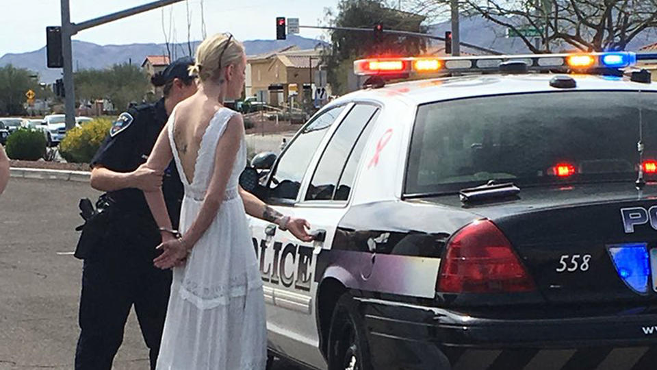 Arizona bride arrested for allegedly driving under the influence to her own wedding