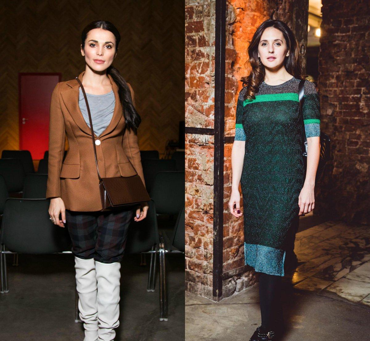 Платье с люрексом и ботфорты: в чем звезды пришли на премьеру в...