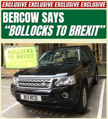 Bercow Says 'Bollocks to Brexit' https://t.co/LrqOAeFvHG https://t.co/GnEe73O3V6