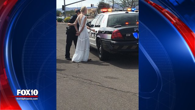Bride arrested for impaired driving on way to her wedding