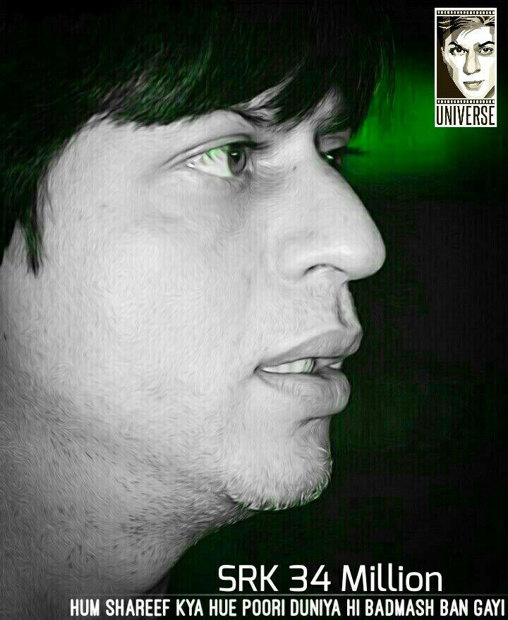 Sheron Ka Zamana Hota Hai! ���� SRK 34 MILLION https://t.co/ctc5OkBuju