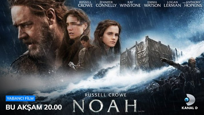 RT @KanalD: Maceraya hazır mısın? Nuh: Büyük Tufan, TV'de İlk Kez, bu akşam 20.00'de #KanalD'de! https://t.co/pEPTf2zlqV