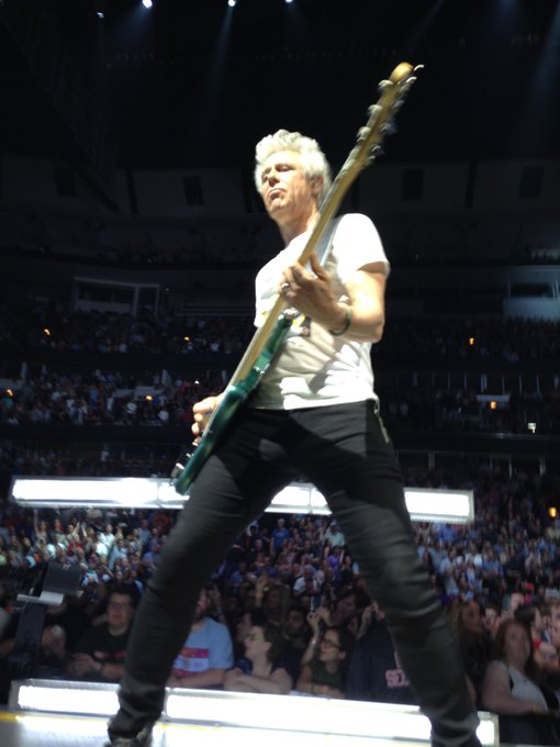 Happy Birthday Adam Clayton!! One of my fav photos that I took from Chicago 2015!
