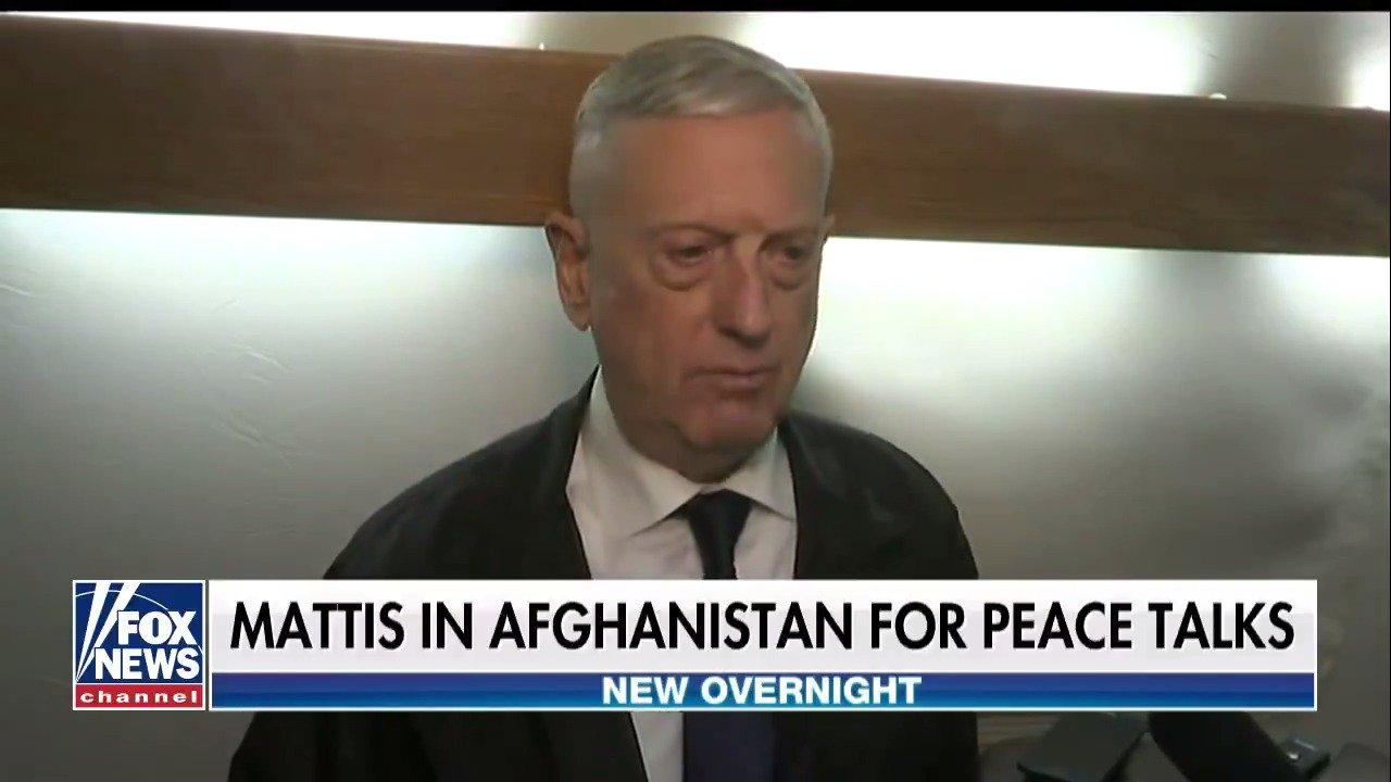 Secretary Mattis in Afghanistan for peace talks https://t.co/7XgOsky88N @foxandfriends https://t.co/ypLOHdhcNA