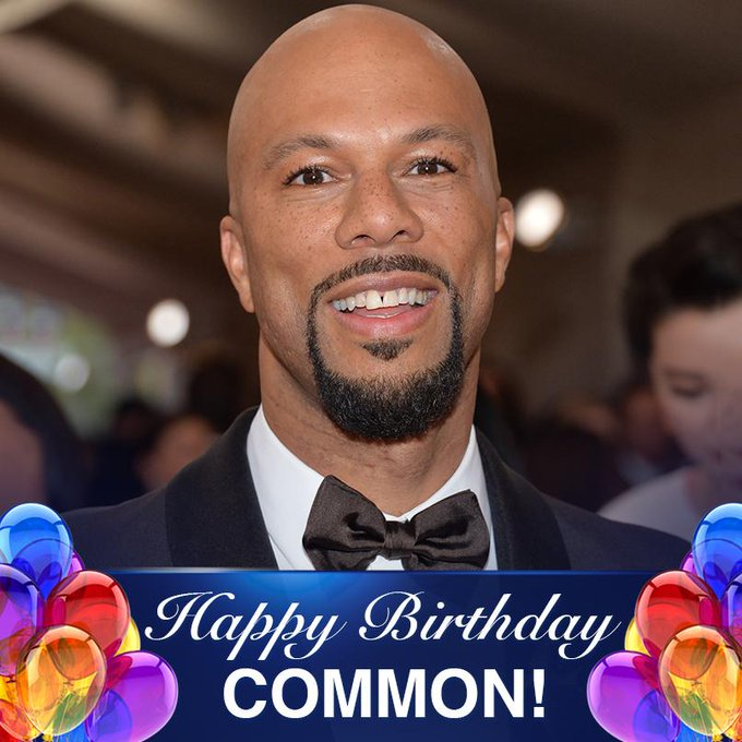 One of Chicago\s finest! Happy 46th Birthday to rapper, actor, producer, Grammy and Oscar winner Common!