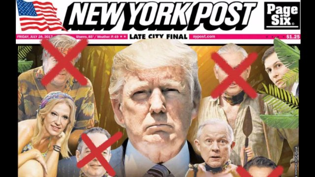 NY Post crosses Tillerson off updated 'Survivor' cover https://t.co/03uiDkZ3Pq https://t.co/GcOonDVqkC