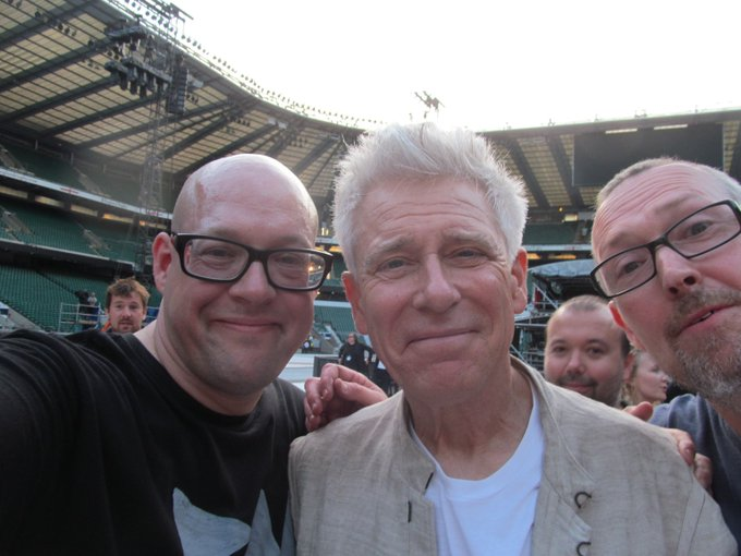 Happy Birthday to Adam Clayton from and I. Look at how happy he is !