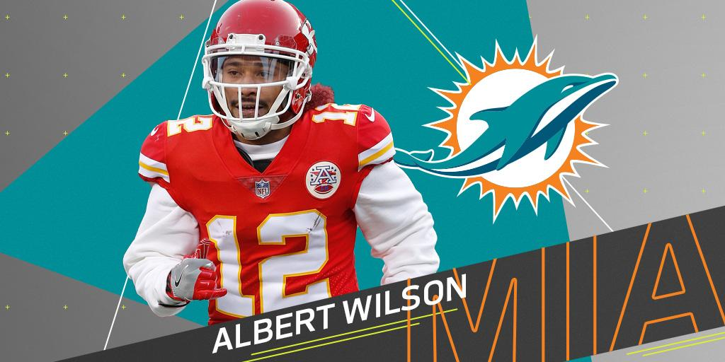 .@MiamiDolphins to sign former Chiefs WR Albert Wilson: https://t.co/aT9Iu7w4lm (via @RapSheet) https://t.co/Z5Nd1NudMZ