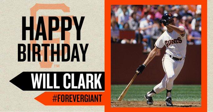 Happy Birthday to Will Clark!