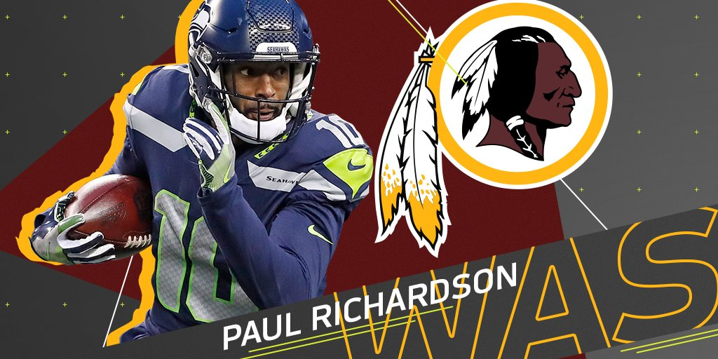 .@Redskins expected to sign former Seahawks WR Paul Richardson: https://t.co/K1y5iKbzCo (via @MikeGarafolo) https://t.co/78GtuAGGZV