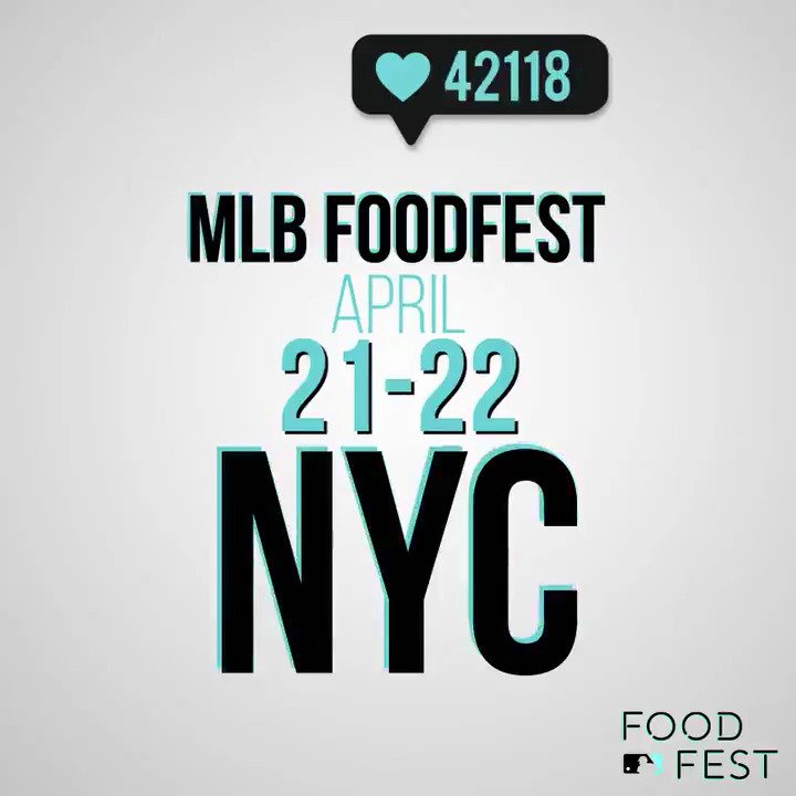 Introducing the inaugural #MLBFoodFest! https://t.co/jk6cJngRZM https://t.co/39yPZ0zg2z