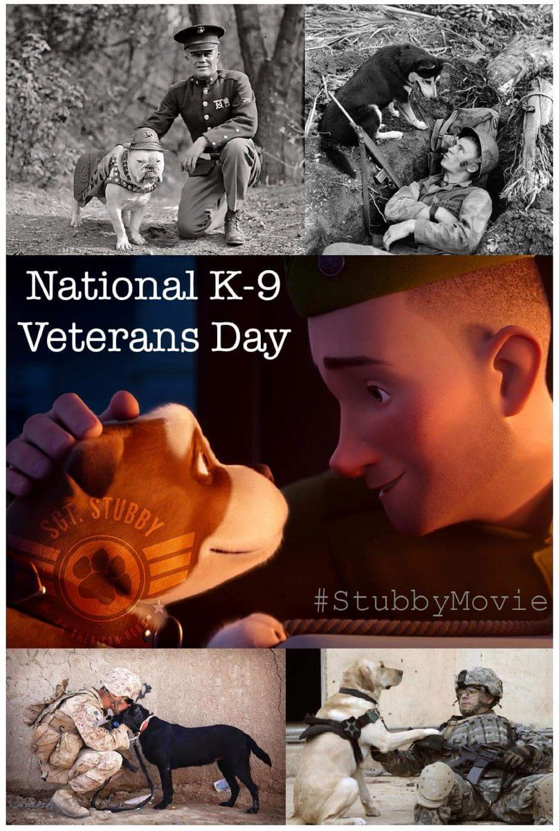 #NationalK9VeteransDay