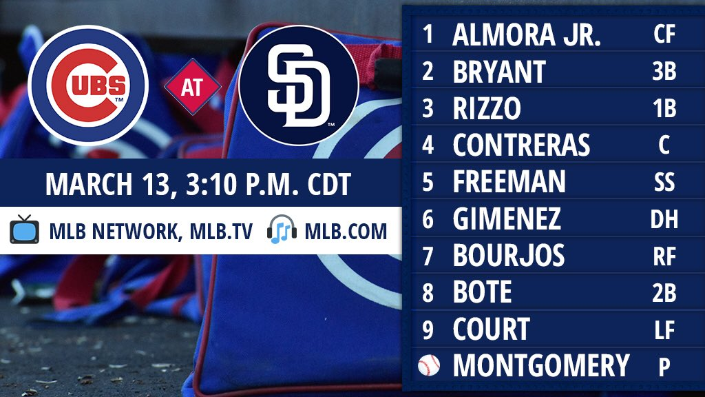 Split squad means a full day of #Cubs baseball! https://t.co/lk6MiNFZqK #EverybodyIn https://t.co/82TFSkUZto