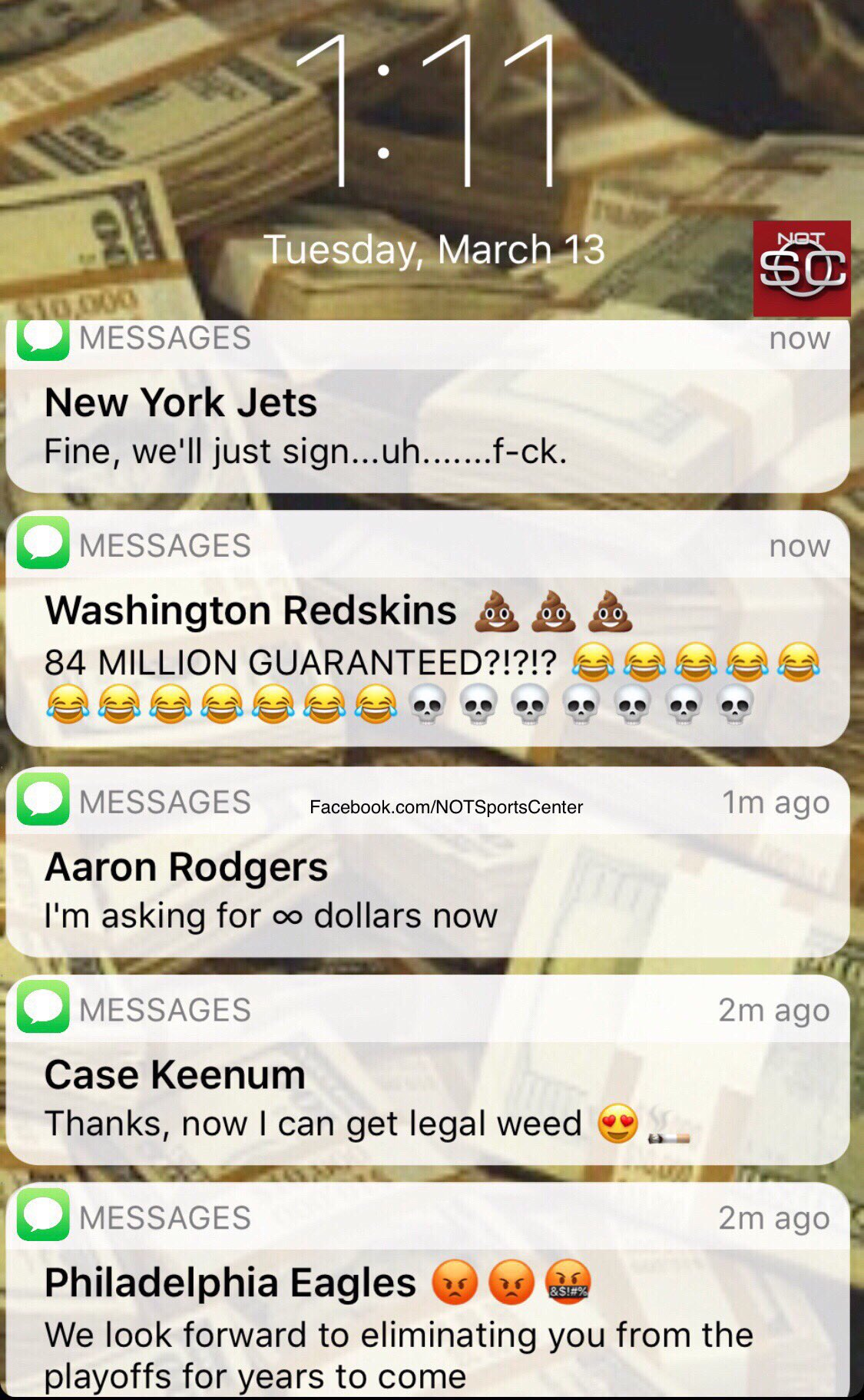 Kirk Cousins' phone has been blowing up since agreeing to sign with the Vikings: https://t.co/Z8LzTqiuB0