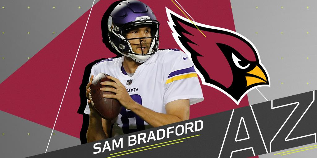 Sam Bradford expected to sign with @AZCardinals: https://t.co/OycIwzroe8 (via @tiffblackmon) https://t.co/7BcHeLbWC2