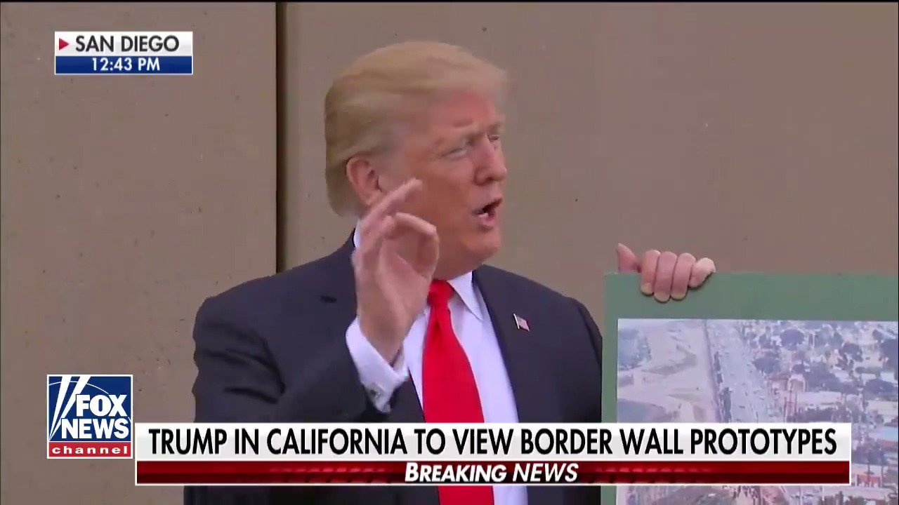 """.@POTUS: """"They re-established law & order in San Diego when they put up a wall."""" https://t.co/JYaziXnUC2 https://t.co/V0tQXQsYKl"""