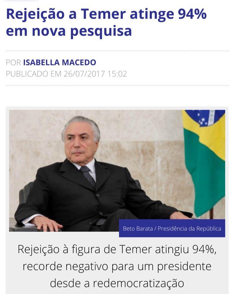 Caralho Patrícia 94,26% conseguiu ser mais rejeitada que o Temer https://t.co/Pr8bQuL0gw