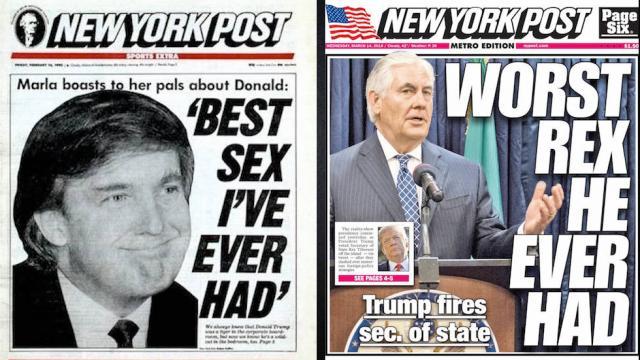 Trump's hometown paper mocks Tillerson firing: 'Worst Rex he ever had' https://t.co/wTtHyv1BtC https://t.co/NmLFSH5K2D
