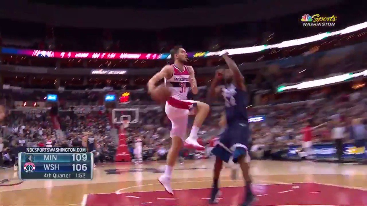 Composed and clever from Satoransky! ��  #DCFamily 109 | #AllEyesNorth 111 with 46 seconds to play on @NBATV. https://t.co/e3lALqUiIs