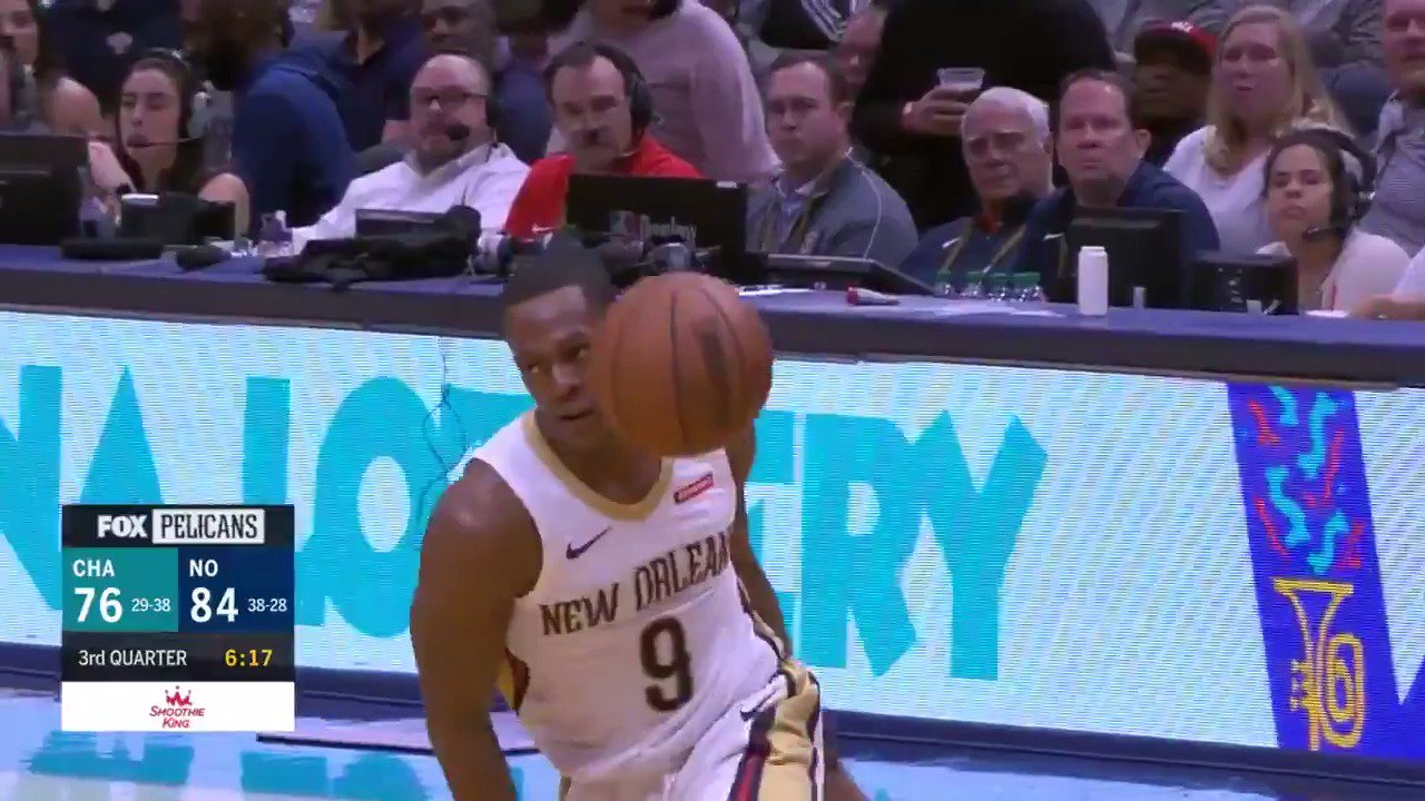 17 dimes for Rondo in the @PelicansNBA win!  #DoItBig https://t.co/KXizqHpXUF
