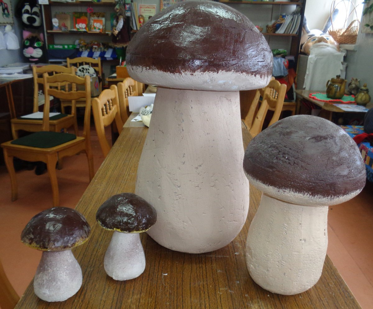 Как сделать гриб из гипса фото
