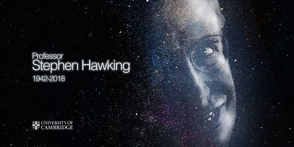 'Look up at the stars and not down at your feet' - Professor Stephen Hawking 1942-2018 https://t.co/h8uWznhEpb https://t.co/RVeQx2BTxP