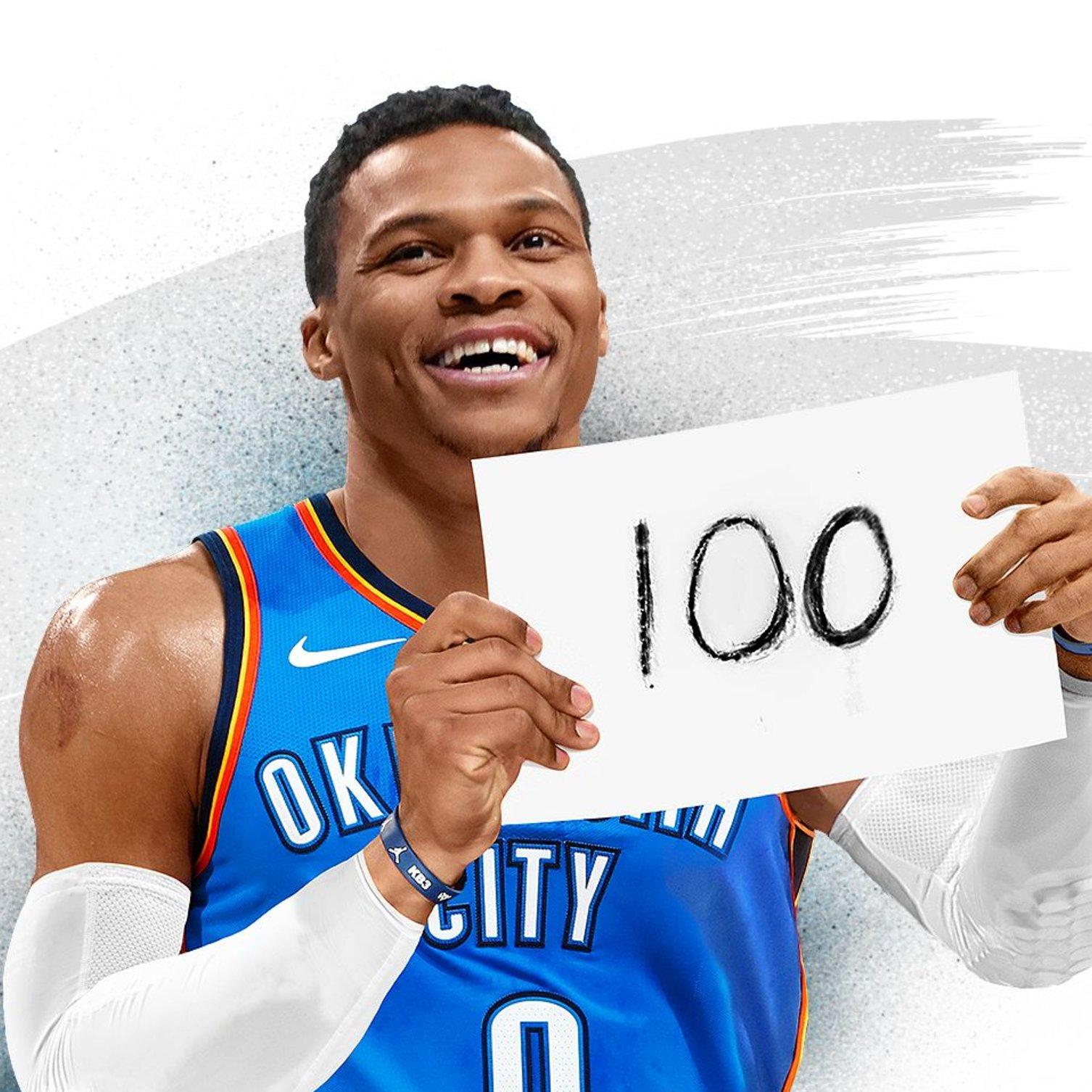 ICYMI: Russ joined the 100 (triple-doubles) club last night. https://t.co/JRfEbMq8fc