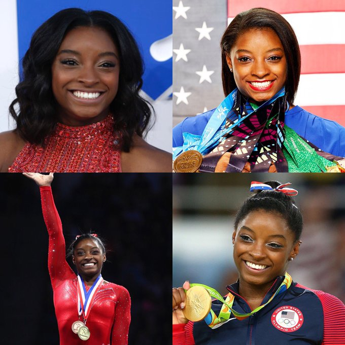 Happy 21 birthday to Simone Biles . Hope that she has a wonderful birthday.