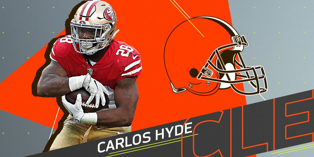 .@Browns to sign RB Carlos Hyde to three-year deal: https://t.co/v1HNGf2InO (via @RapSheet) https://t.co/zyeQji3TlV