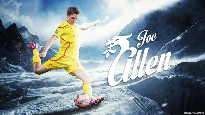 And how much i miss designing liverpool stuff !  Happy birthday Joe Allen !!!