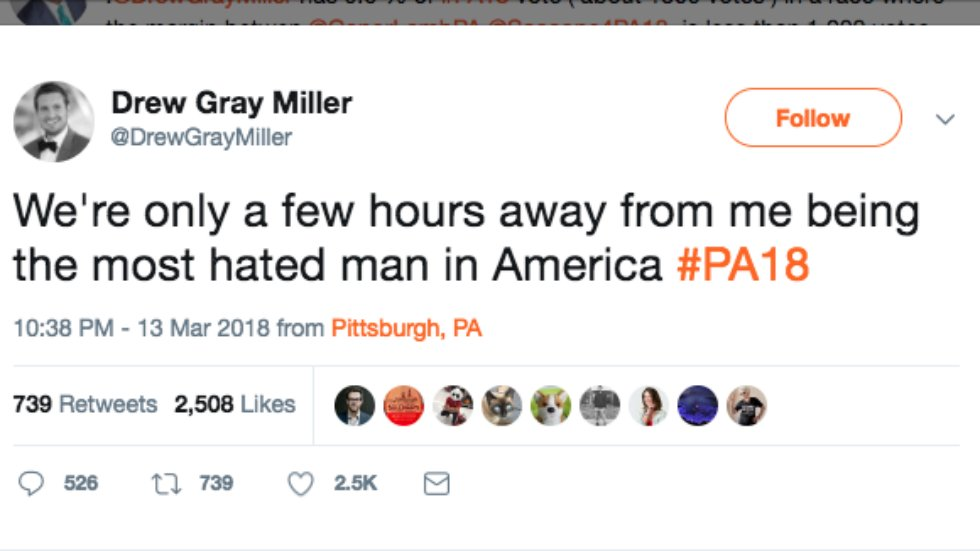 Libertarian candidate in PA special election: I'll soon be 'the most hated man in America' https://t.co/VXxNP0Ucbc https://t.co/9qyZ6Pjgj6