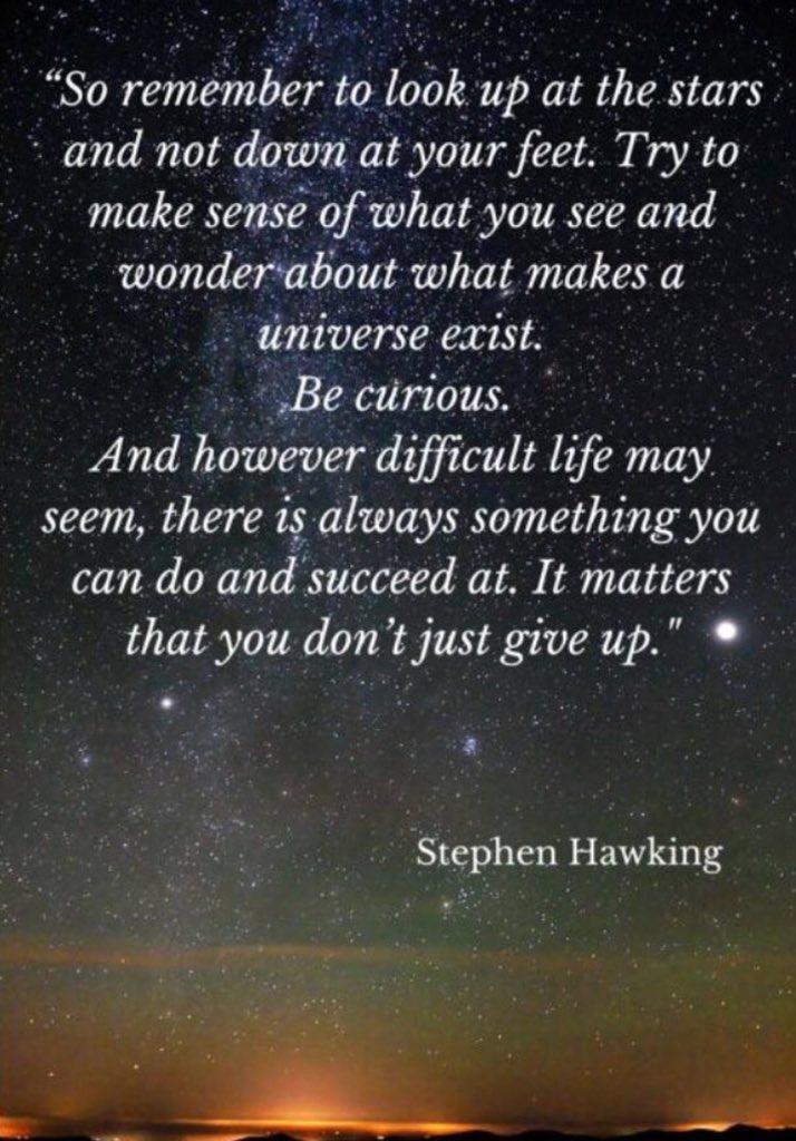 RIP Stephen Hawking...an inspiration... https://t.co/c3HSCY1PCq