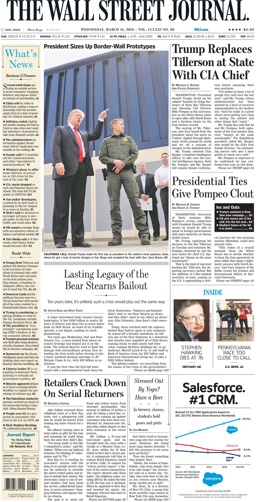 Take a look at the front page of today's Wall Street Journal https://t.co/7MA76kNOet