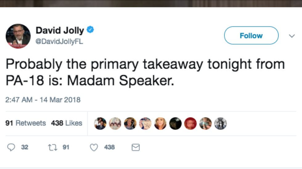 Ex-GOP lawmaker's takeaway from PA special election: Get used to saying 'Madam Speaker' https://t.co/940dWGe9XF https://t.co/HK4dlPecFF